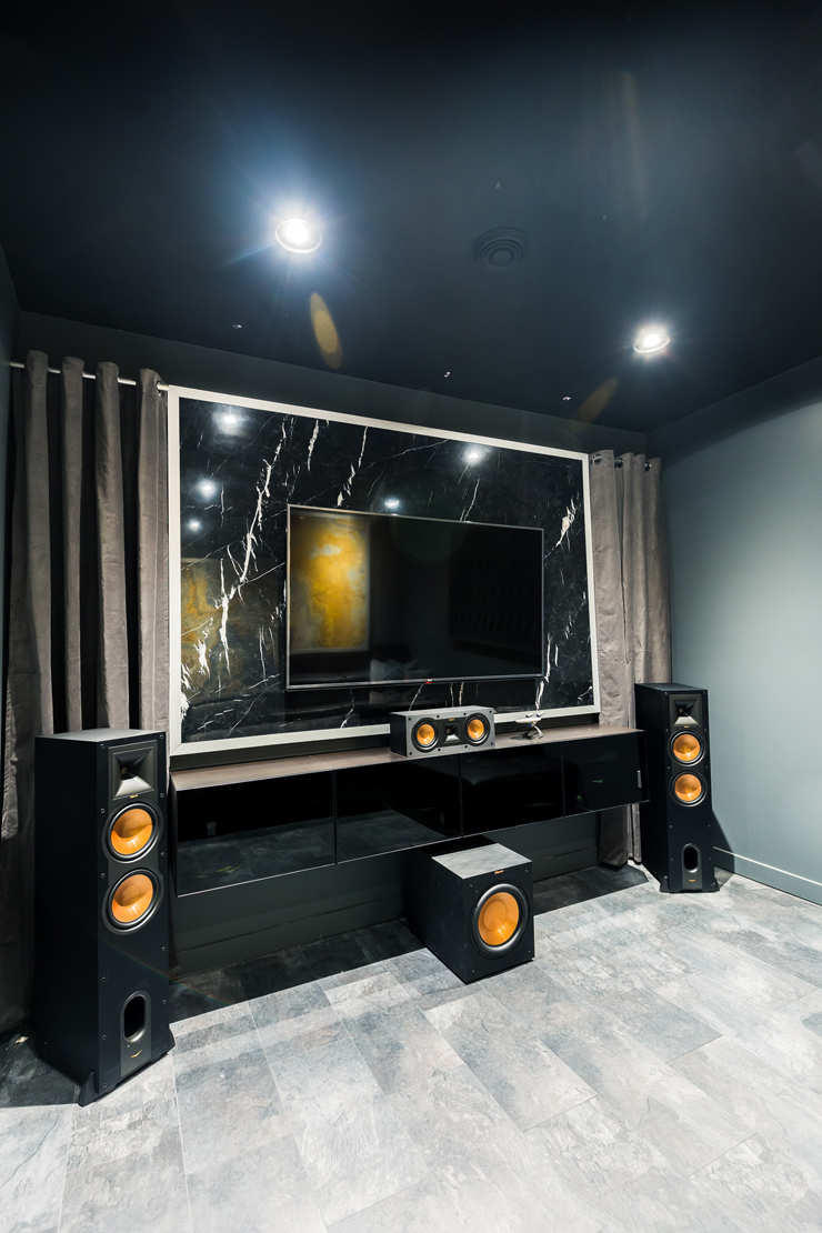 Ultra Modern Theater Room Man Cave DesignUltra Modern Theater Room Man Cave Design