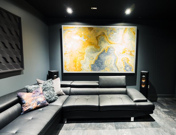 Ultra Modern Theater Room Man Cave Design